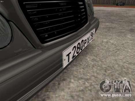 Mercedes-Benz E420 para vista inferior GTA San Andreas