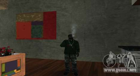 Italian bar Gangstaro in Los Santos para GTA San Andreas segunda pantalla