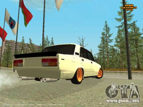 VAZ 2107 Coche para GTA San Andreas vista posterior izquierda