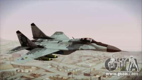 MIG-29 Fulcrum Ukrainian Falcons para GTA San Andreas