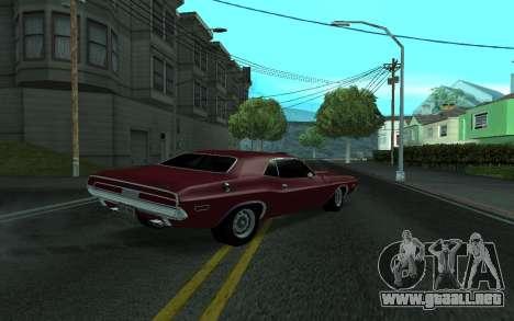 Dodge Challenger Tunable para GTA San Andreas left