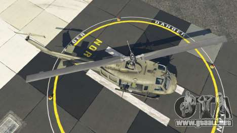 GTA 5 Bell UH-1D Iroquois Huey cuarto captura de pantalla