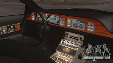 Chevrolet Caprice Station Wagon 1993-1996 LSPD para la visión correcta GTA San Andreas