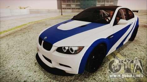 BMW M3 GTS 2011 HQLM para GTA San Andreas vista hacia atrás