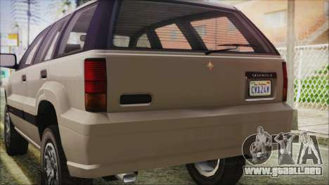 GTA 5 Canis Seminole IVF para visión interna GTA San Andreas