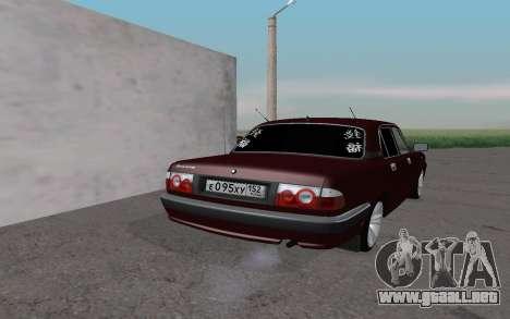 GAZ 31105 para la visión correcta GTA San Andreas