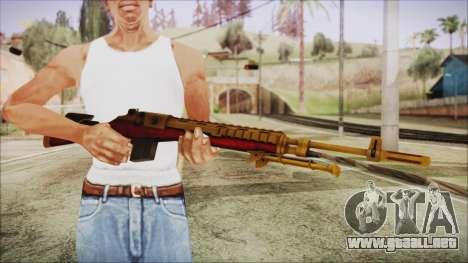 Xmas M14 para GTA San Andreas tercera pantalla