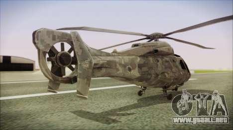 Tom Clancys Splinter Cell Blacklist Scout para GTA San Andreas left