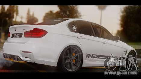 BMW M3 F30 IND EDITION para GTA San Andreas left