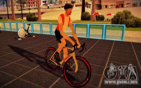 GTA V Endurex Race Bike para GTA San Andreas vista posterior izquierda