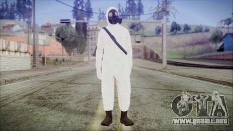GTA 5 Online The Heist Gasmask Yellow para GTA San Andreas segunda pantalla