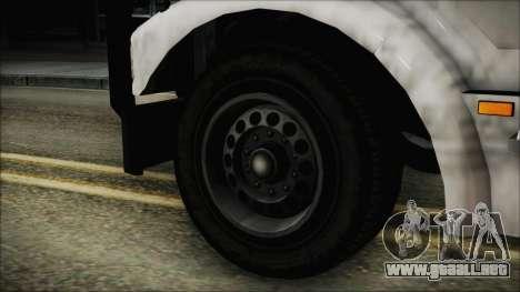 Indonesian Benson Truck In Real Life Version para GTA San Andreas vista posterior izquierda