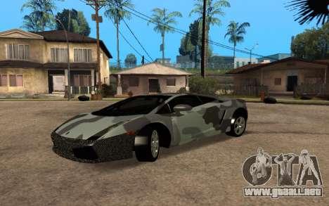 Lamborghini Gallardo Tunable v2 para GTA San Andreas vista hacia atrás