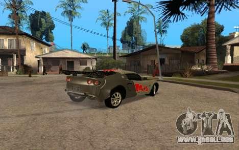 Lotus Elise 111s Tunable para visión interna GTA San Andreas