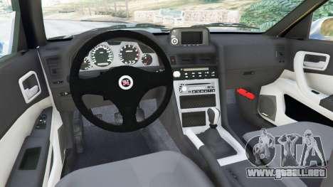GTA 5 Nissan Skyline R34 2002 vista lateral trasera derecha
