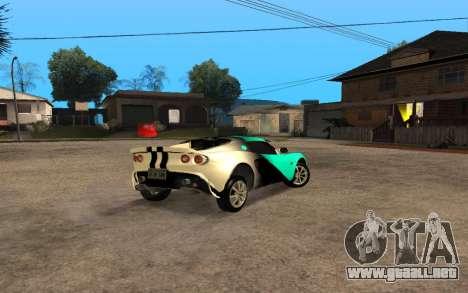 Lotus Elise 111s Tunable para la visión correcta GTA San Andreas
