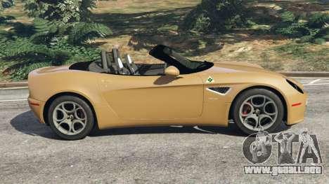GTA 5 Alfa Romeo 8C Spider 2012 vista lateral izquierda