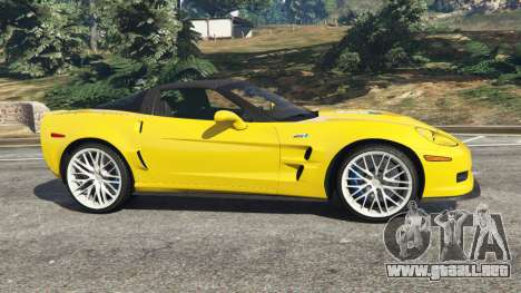 GTA 5 Chevrolet Corvette ZR1 vista lateral izquierda