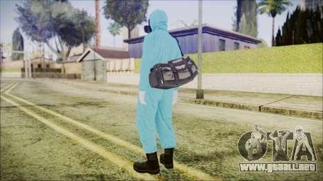 GTA 5 Online The Heist Gasmask Dark para GTA San Andreas tercera pantalla