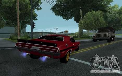 Dodge Challenger Tunable para visión interna GTA San Andreas