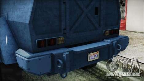 GTA 5 HVY Insurgent Van IVF para visión interna GTA San Andreas