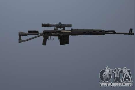 Fusiles De Francotirador Dragunov para GTA San Andreas tercera pantalla