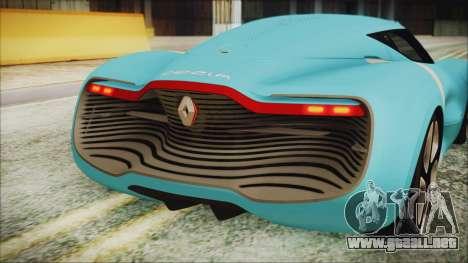 Renault Dezir Concept 2010 v1.0 para GTA San Andreas vista hacia atrás