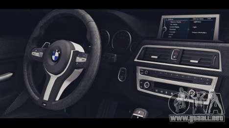 BMW M3 F30 IND EDITION para la visión correcta GTA San Andreas