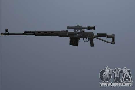 Fusiles De Francotirador Dragunov para GTA San Andreas