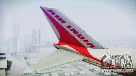 Boeing 747-237Bs Air India Emperor Ashoka para GTA San Andreas vista posterior izquierda