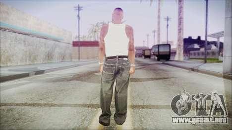 GTA 5 Grove Gang Member 3 para GTA San Andreas tercera pantalla