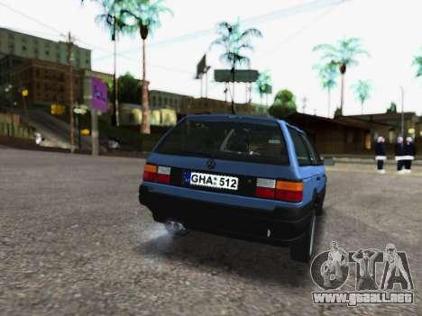 Volkswagen Passat B3 Variant para GTA San Andreas vista posterior izquierda