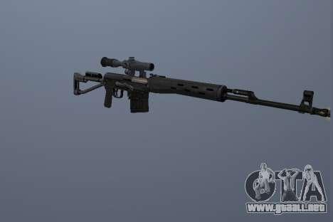 Fusiles De Francotirador Dragunov para GTA San Andreas segunda pantalla