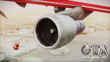 Boeing 747-100 Merry Christmas para la visión correcta GTA San Andreas