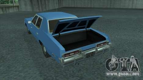 Dodge Monaco V8 7.2L 1974 para GTA San Andreas vista hacia atrás