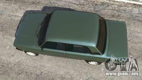 GTA 5 VAZ-2107 [Riva] v1.1 vista trasera