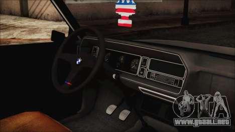 Tofas 131 Mirafiori Edition para la visión correcta GTA San Andreas