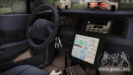 Ford Crown Victoria Miami Dade para la visión correcta GTA San Andreas