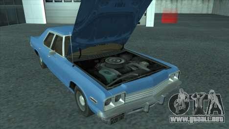 Dodge Monaco V8 7.2L 1974 para la visión correcta GTA San Andreas