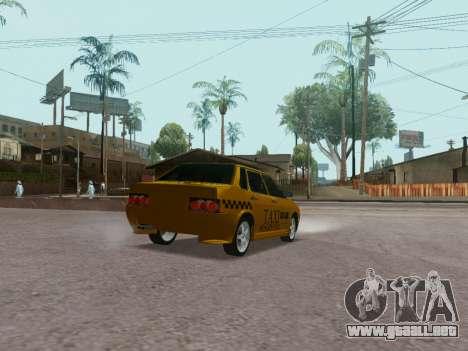 VAZ 21099 Tuning Russian Taxi para GTA San Andreas vista posterior izquierda