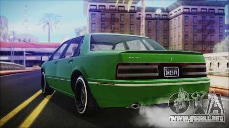 GTA 5 Albany Primo Custom No Interior IVF para GTA San Andreas left