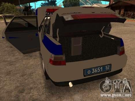 VAZ 2110 DPS para visión interna GTA San Andreas