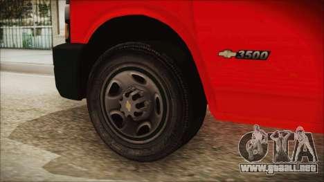 Indonesian PMI Ambulance para GTA San Andreas vista posterior izquierda