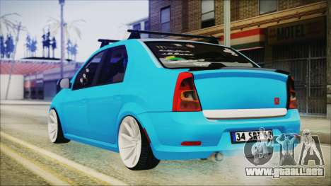 Dacia Logan Cadde Style para GTA San Andreas left