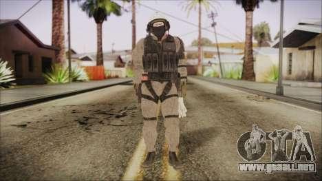 XOF Soldier (Metal Gear Solid V Ground Zeroes) para GTA San Andreas segunda pantalla