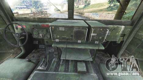 GTA 5 HMMWV M-1116 [woodland] vista lateral trasera derecha