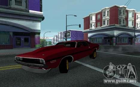 Dodge Challenger Tunable para GTA San Andreas vista hacia atrás