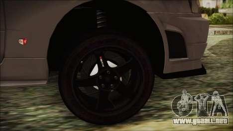 Nissan Skyline Nismo Body Kit para GTA San Andreas vista posterior izquierda