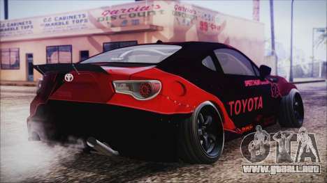 Toyota GT86 Speedhunters para GTA San Andreas left