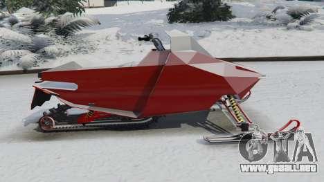 GTA 5 Motos de nieve vista lateral izquierda